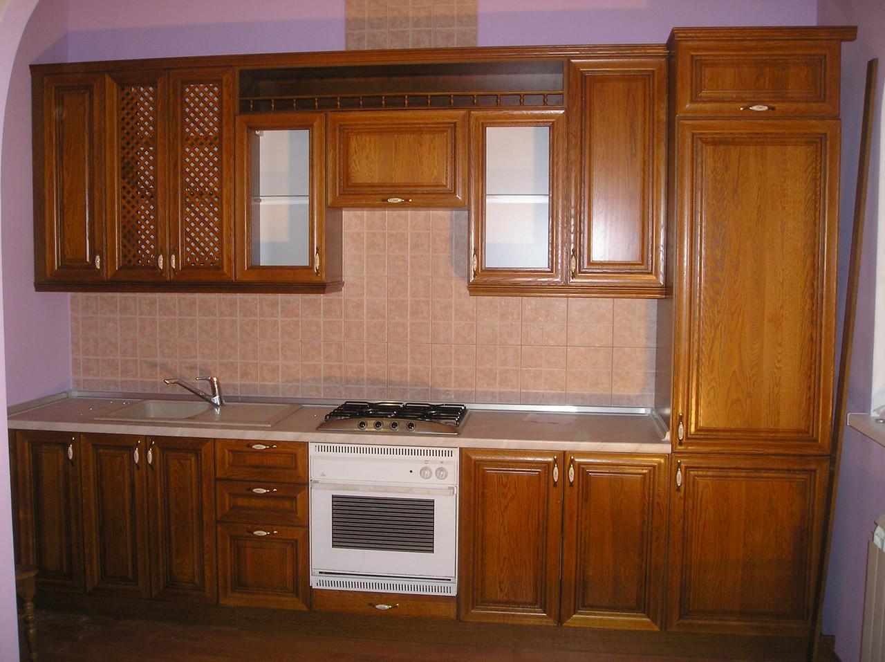 кухня на заказ из натурального дерева
